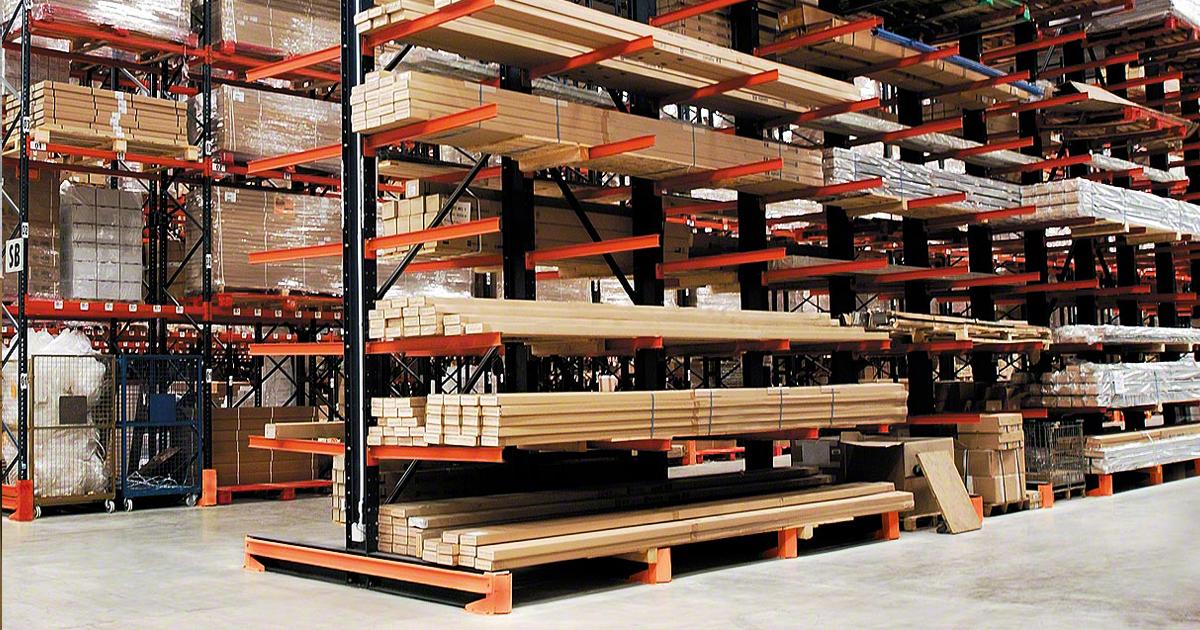 4 produtos que podem ser armazenados em sistema de cantilever